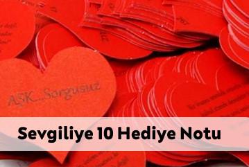 Sevgiliye gönderilebilecek 10 Hediye Notu