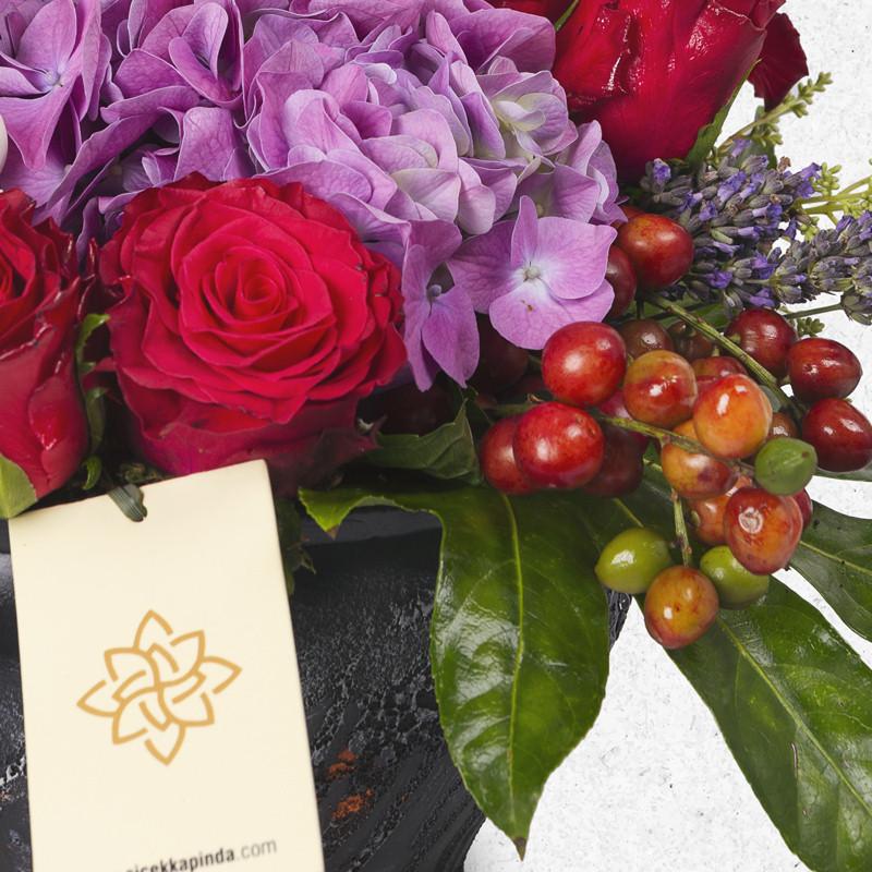 Seramikte Ortanca ve Güller